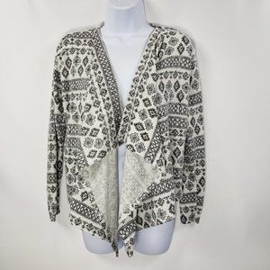 H&M Youth Wrap Black and White Sweater